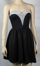 NWT Ruched Pearl Top Banded Waist Satin Sexy Adorable Black Tube Mini Dr... - $27.99