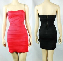 NWT  Tape Style 2 Lace Hole  Zipper  Back Stretchy  Sexy  Club Tube Dres... - $25.99