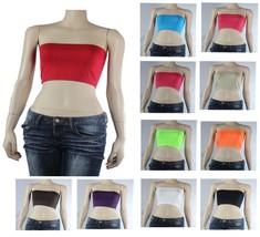 Strapless Tube BANDEAU BRA Stretchy Sports  layering Casual ONE SIZE Hot... - $3.99