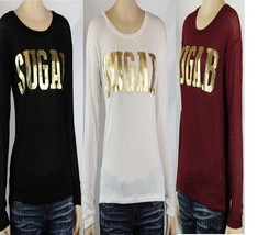 Hacci Gold SUGAB Long Sleeve Top Crew Neck Women's Casual Knit Sweater S... - $16.99