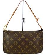 Authentic LOUIS VUITTON Accessory Pochette Monogram Hand Bag #14763