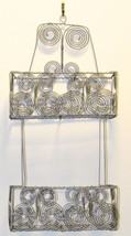 "2 Tier Metal Wall Basket Shelf 20.25"" H - Silver/Gray Matted Finish"