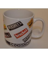 Hershey's Chocolate ~ Decisions ~ Cup Mug ~ Reese's Mr. Goodbar Krackel ... - $11.95