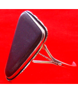 Silver Bracelet Cuff Semi Precious Royal Purple Gemstone SW Sterling Silver - $34.99