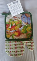 2 pc Set PRINTED Kitchen Pot Holder & Oven Mitt by Emma Brooke, BIRDS & ... - $7.91