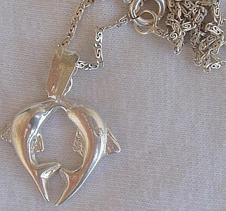 Pair of dolphins pendant B