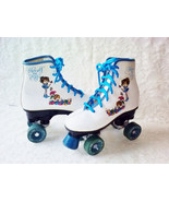 Vintage White Leather Grils Roller Skates Boot Type Herself the Elf New ... - $65.00