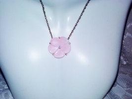 Vintage Avon Pink Lotus Flower Blossom Sparkling Rhinestone Center Penda... - $27.00