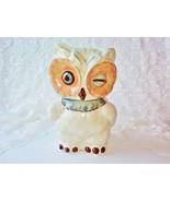 Vintage Shawnee Winking White Snow Owl Porcelain Ceramic Cookie Jar MINT... - $280.00