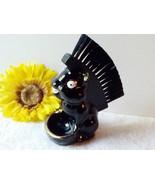 Vintage Porcelain Skunk Clothes Brush Holder and Ring Bowl Vanity Groomi... - $38.00