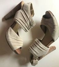 Seychelles Leather / Suede Stack Heel Ankle Buckle Sandals  - $12.00
