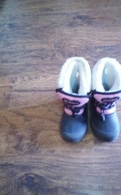 Skechers toddler girl's black snow boots size 9 - £3.14 GBP