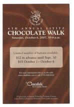 Lititz PA 6th Annual Chocolate Walk Modern Advertising Postcard 2007 Kiw... - $4.99