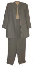 Womens Pants Suit Size 12 46 Emanuel Ungaro Designer Vintage Brown Ivory... - $24.99