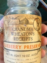 Wheaton 8 oz Mason Jar Wire Bail & Glass Lid Stephenson Old Apple Farm M... - $13.85