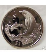BVI DOLPHIN MOTHER & BABY w CORAL 2005 CUNI COIN UNC  - $22.99