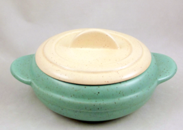 California pottery mid century modern casserole one pint with lid - $20.00