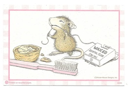 Modern Advertising Postcard Dental Floss Mouse Appointment card 2007 Too... - $8.79