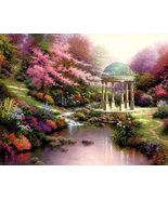 Thomas kinkade Garden Of Prayer Cross Stitch Pattern***L@@K*** - $4.95