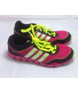 Adidas OrthoLite Climacool Women's Pink Black Sneakers Lace Up Size 6 - $39.59