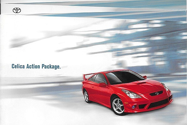 Primary image for 2001/2002 Toyota CELICA ACTION PACKAGE sales brochure catalog US 01