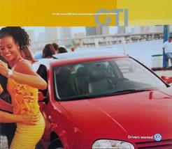 2001 Volkswagen GTI sales brochure catalog US 01 VW GLS GLX VR6 - $9.00