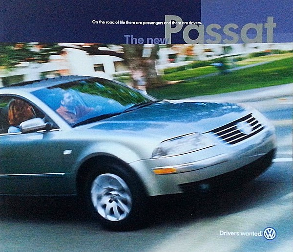 2001 1/2 Volkswagen NEW PASSAT brochure catalog 01.5 VW GLS GLX 2nd Edition