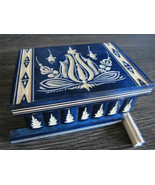 Secret Compartment Lock Box with Hidden Key Best for Jewellery Safe Wood... - €57,63 EUR