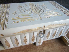 Women Makeup and Jewelry Box Case Organizer Storage Puzzle Box Case Whit... - $64.76