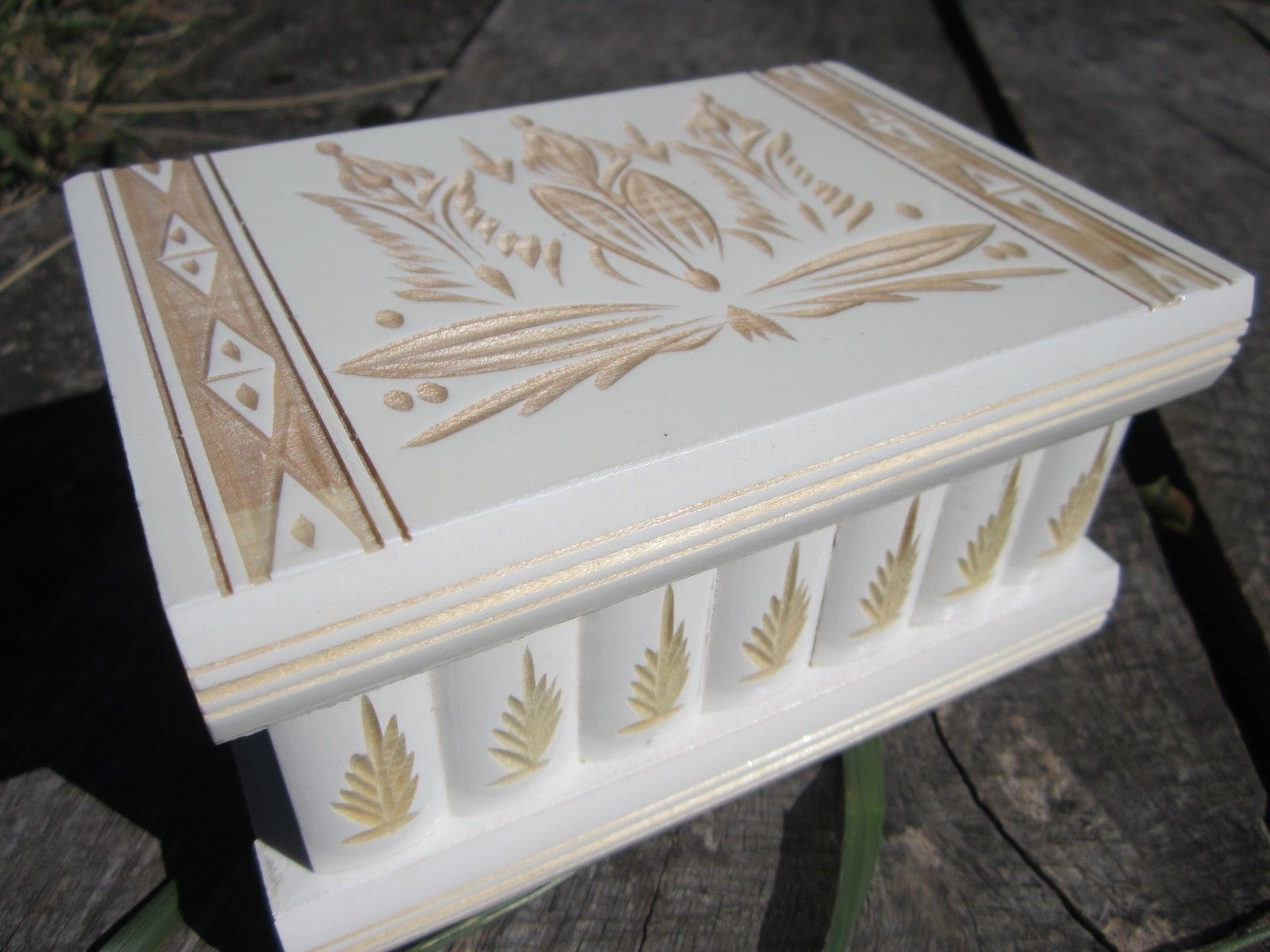 Puzzle Jewelry Box with Secret Compartment and 50 similar items
