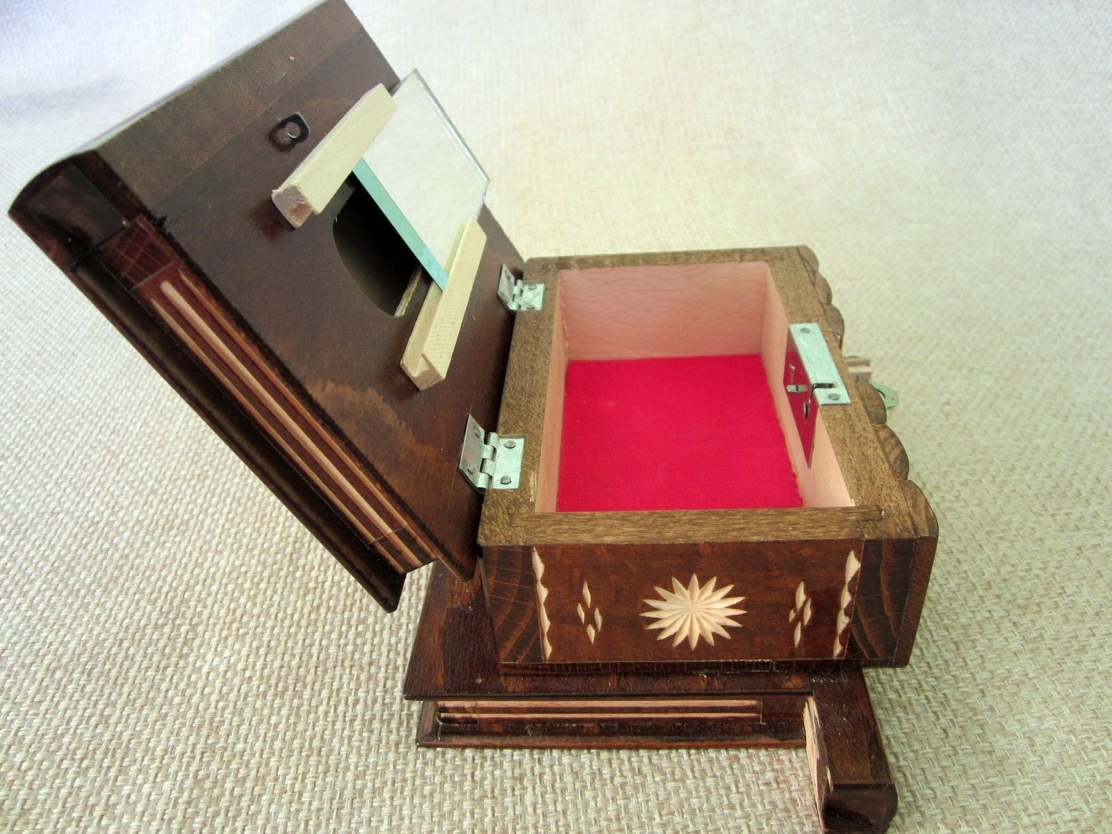 Secret Puzzle Brown Compartment Wooden Magic Puzzle Box Hungarian Jewelry Lock