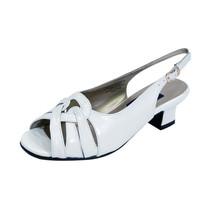 PEERAGE Helen Women Wide Width Laced Toe Cap Slingback Leather Sandals  - $40.45
