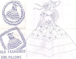 Southern Belle - Crinoline Lady pillows eyelet & embroidery pattern AB7346  - $5.00