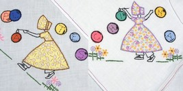 Bonnet / Sunbonnet Girls Kitchen TOWELS embroidery pattern LW1305  - $5.00