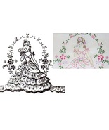 Southern Belle - Crinoline Lady pillowcase eyelet & embroidery pattern m... - $5.00