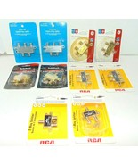 2 way and 4 way splitter lot of 10 Radio Shack Archer RCA Ect. Ships VER... - $19.31