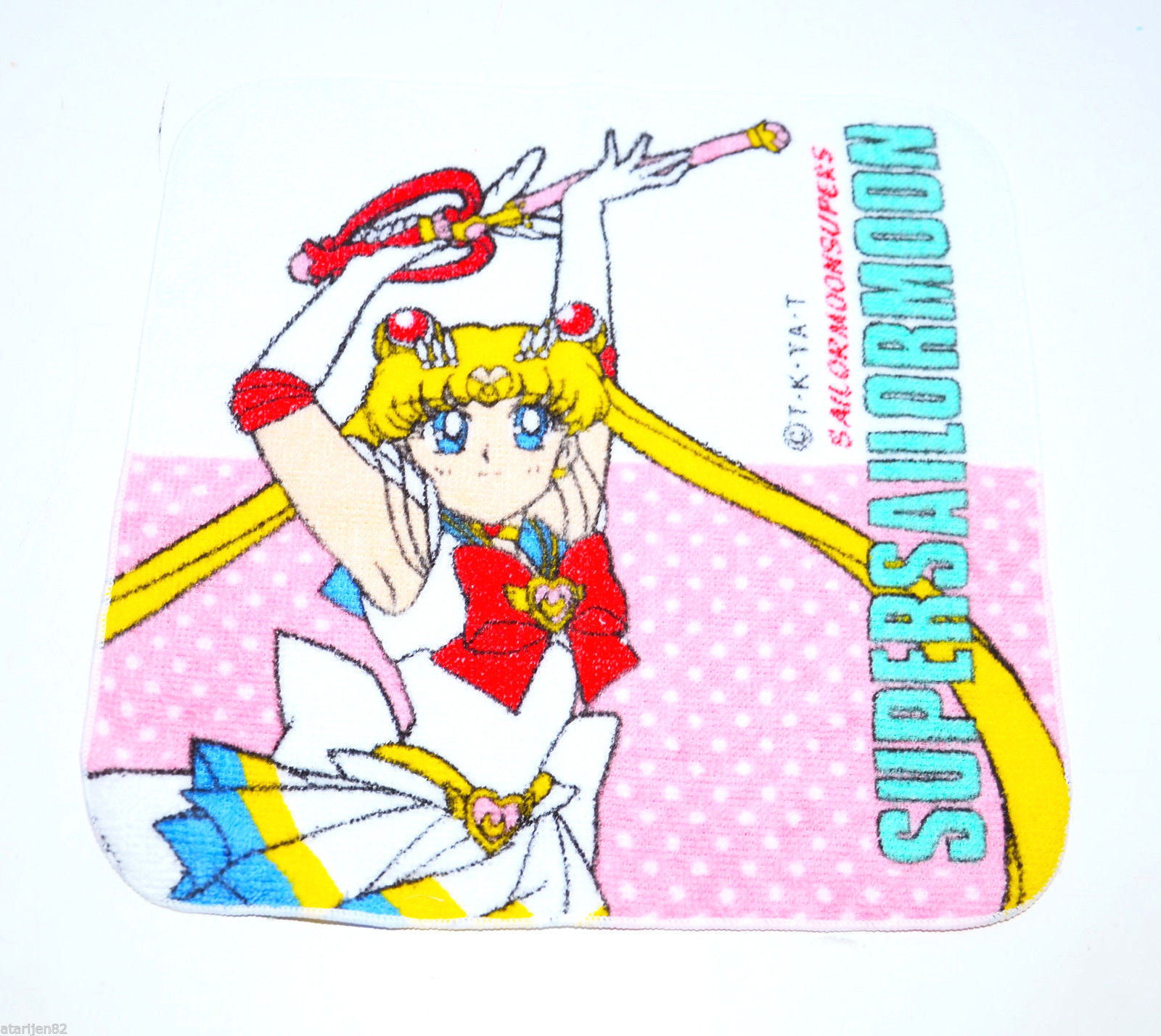 Bandai Sailor Moon SuperS Super S towel rag Japan import kaleidomoonscope wand - $9.89