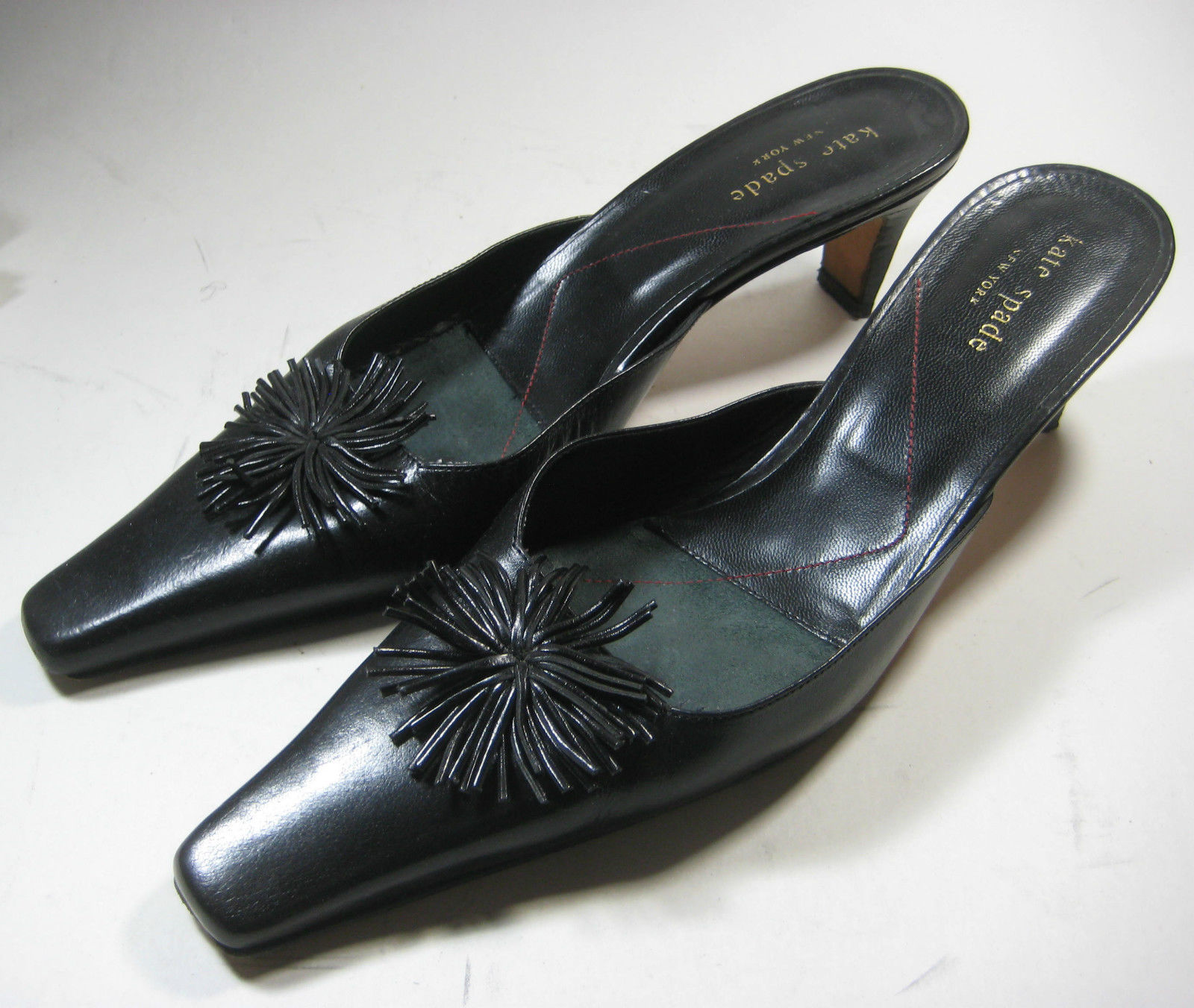 13551efbed Kate Spade 7.5 M Rich Black Leather Flower and 50 similar items. 57