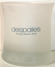 Small White Frosted Glass Votive Holder from Despalles - $8.00