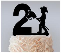 2nd Birthday Anniversary Cake topper,Cupcake topper,little boy cowboy : 11 pcs - $20.00