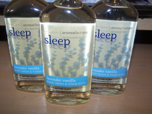 Bath & Body Works Sleep Lavender Vanilla Body Wash & Foam Bath (Lot of 3)