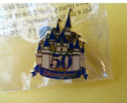 Castle Disney 50th Candlelight Event Golden Anniversary Press Pin 2004 - $15.00