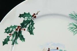 """Farberware White Christmas 2118 Dinner Plates 10.5"""" Lot of 8 image 4"""