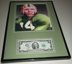 Johnny Lattner Signed Framed $2 Bill & Photo Display Notre Dame - $83.79