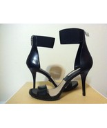 Michael Kors Barbara Runway Black Smooth Leather Women's Heels Sandals 7.5 M - $146.52