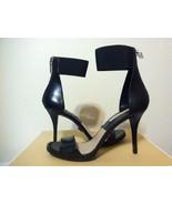 Michael Kors Barbara Runway Black Smooth Leather Women's Heels Sandals 7.5 M