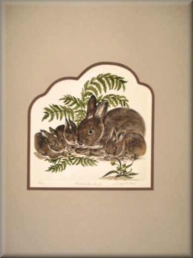 Linda Cullers Rabbit & Her Gang Etching S/N LTD ED #83