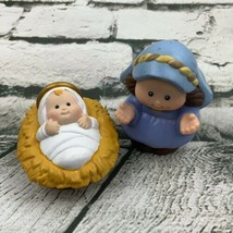 Fisher Price Little People Replacement Baby Jesus Virgin Mary Nativity 2001 - $13.86