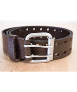 BUCKLE BRAND WOMEN'S ITALIAN LEATHER BELT BROWN - $19.59