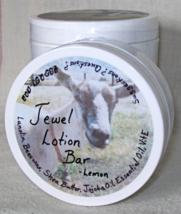 Lemon Jewel Lotion Bar  all natural moisturizing bar for hands heels elb... - $8.25